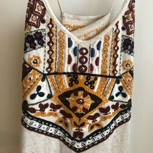 Zara Knitted and embroidered dress